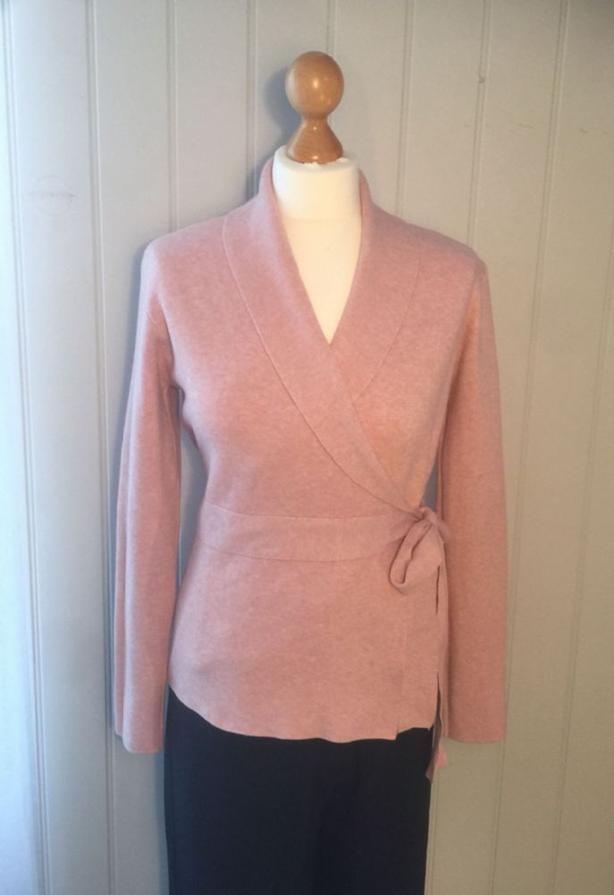 Shawl Collar Wrap Cardigan - Pink